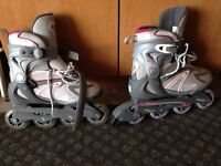 Barely used inline skates