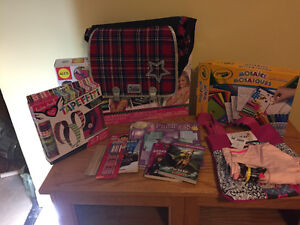 Assorted girl craft items & easy bake oven
