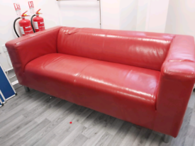 Sofa for office visitors in red
