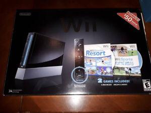 Nintendo Wii complète en boite avec jeux et accessoires