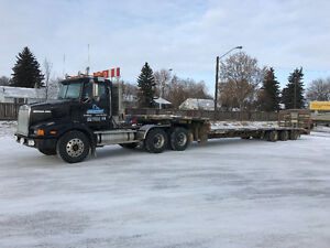 Very clean truck and lowboy trailer combo MUST SEE!
