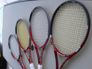 Tennis Racquets only $60 used by Canadian Nat. U18 Champ