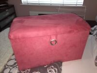 Pink Faux Storage Box