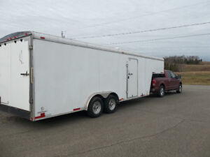 INSULATED FIFTH WHEEL / GOOSENECK ENCLOSED TRAILER 20'+9' =29 FT