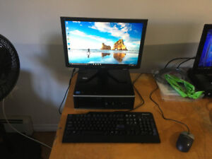 hp pro c2d e7600/4gb ram/500gb hdd/win 10 sff desktop