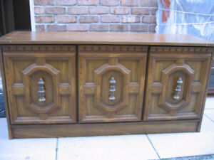 solid wood tv table/storage cabinet  #123434 ____________