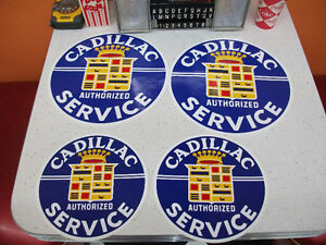 4 Cadillac authorized service stickers  autocollant