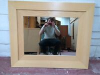 Large beach framed mirror