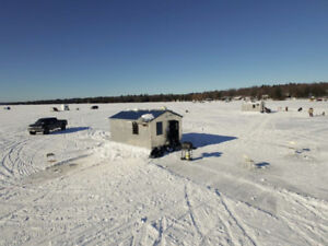Ice Bungalow and Ice Hut Rentals on White Lake