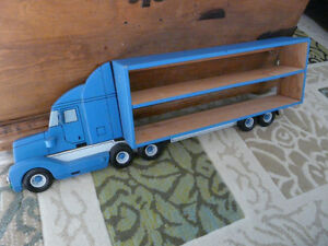 Handmade transport truck to hold prized matchbox cars