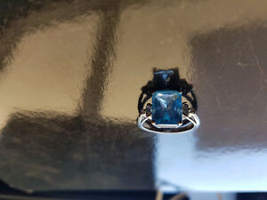 Aquamarine and diamond ring, reduced 100.00