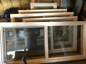 5 brand new Durabuilt double pane windows - White