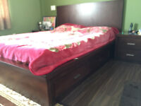 Queen Bed with Night stand