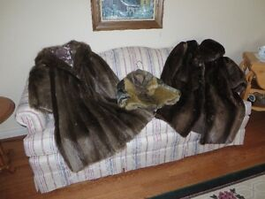 3 fur coats otter, beaver, & seal