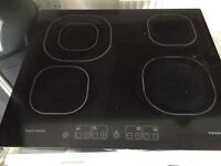 Touch screen hob