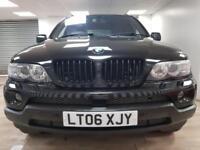 BMW X5 3.0d AUTOMATIC BLACK 4X4 FULL SPEC WARRANTY 12 MONTHS MOT SERVICE HISTORY