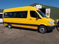 Mercedes-Benz SPRINTER 411 CDI LWB 17 seat minibus wheelchair access no VAT