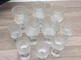 Set of ten glasses
