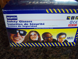 North Safety Glasses case of 10 pair (new)