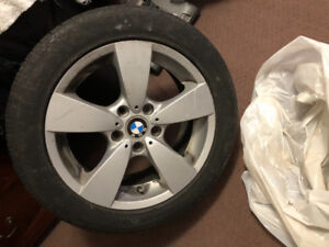 Bmw all season Continental tires and rims 225/50 R17