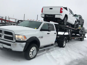 2017 Dodge Ram 5500 and 4 car trailer