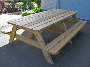 Western red cedar 8 foot, extra wide picnic table