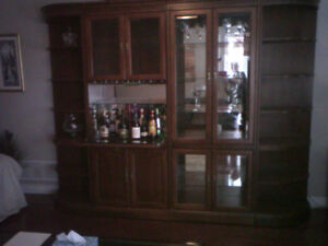 Real Cherry wood wall unit