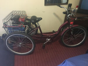 No insurance needed!! Schwinn AdultMotorized Tricycle for sale!