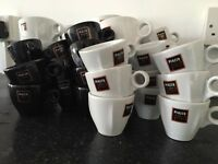 Selection of coffee mugs and espresso cups