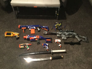 Nerf guns and more!  Toy Arsenal!
