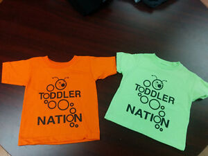 Toddler shirts for sale by new Dartmouth business