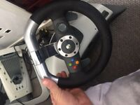 Official Xbox 360 force steering wheel & pedals
