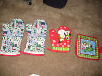 Oven Gloves Mitts Set