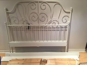 Queen size bed frame with headboard