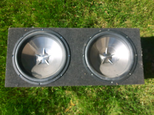 Clarion 10 inch subs with box