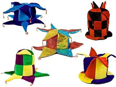 Verrückte Halloween-party (Karnevalshüte verrückte Hüte Partyhut Jecken Harlekin Faschingshut Joker NEU)