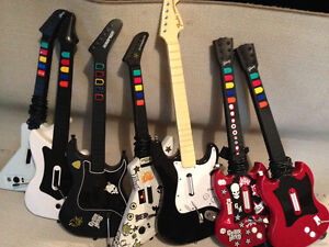 7 Guitar Hero Guitars - $50 for all 7