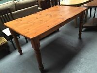 HEAVY SOLID WOOL KITCHEN TABLE