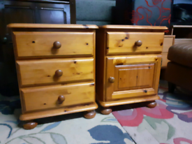 Pair of Pine Bedside Cabinets