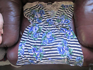 womens sheer summer top lot XL 1X       --5 tops