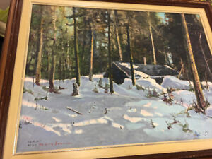 Many paintings for sale