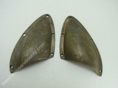 Matched Pair Old Wood Boat Bronze Vents -XE3B135