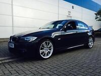 2010 10 Reg BMW 320d M Sport 4dr saloon Black AUTO AUTOMATIC LCI FACELIFT