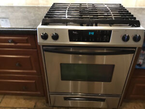 Stove Gas, Whirlpool Gold, stainless steel, USED