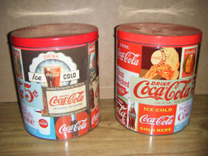 Collectible 1989 Coke Cola Tin Cans for sale