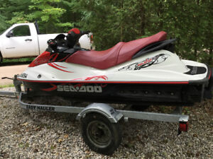 SeaDoo for sale (includes trailer and beach cart)