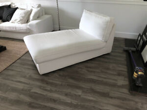 Ikea KIVIK series chaise in limited edition white cover