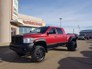 "2008 Ram 3500 Laramie Megacab Dually- LIFTED/35"" WHEELS"