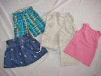 ASSORTED 3T TODDLER GIRL SHORTS &; CAPRIS, HATS (H&M, KOOSHIES,