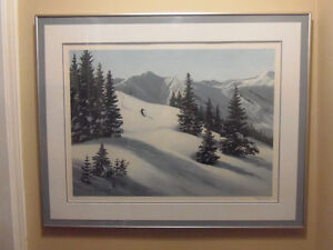 Signed, framed, numbered print 'Mountain Snow' by Maynard Reece! London Ontario image 3
